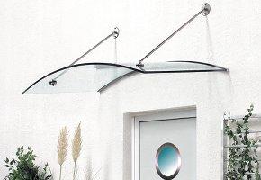 Vordach mit Quarzglas